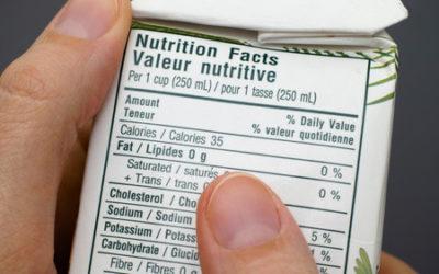Cómo leer las etiquetas nutricionales