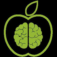 Nutrición en salud mental icono