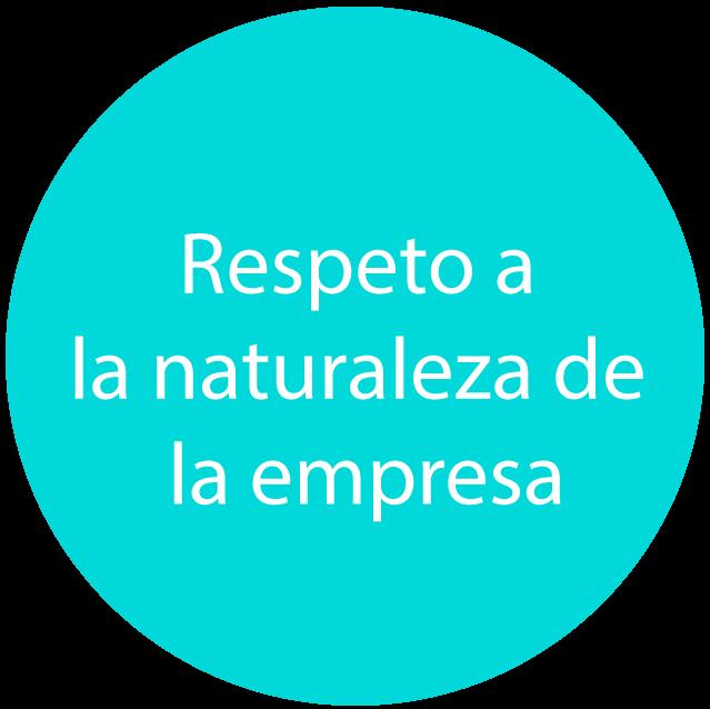 respeto a la naturaleza de la empresa en servicio corporativo